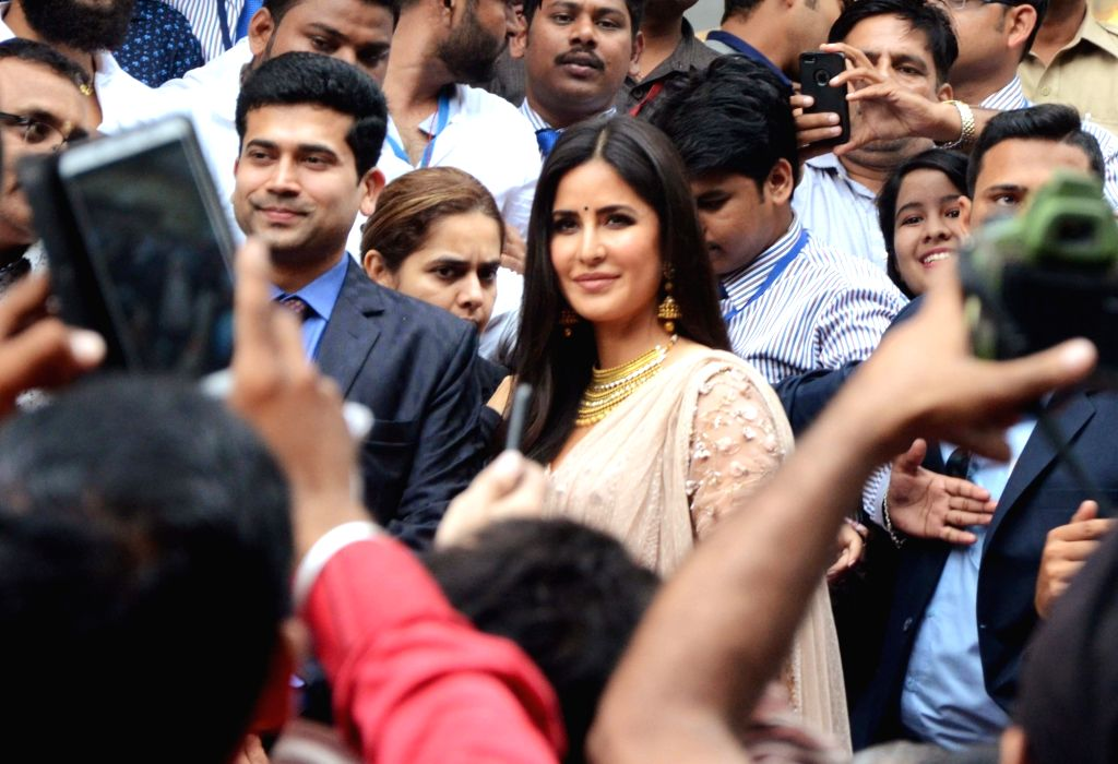 Actress Katrina Kaif arrives to inaugurate a jewellery store in Nagpur on July 21, 2018. - Katrina Kaif