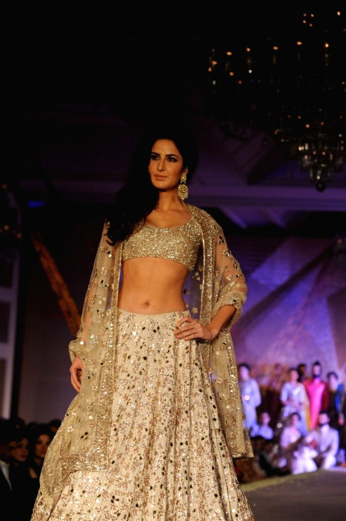Actress Katrina Kaif during the fashion show by designer Manish Malhotra in Mumbai, on January 14, 2016. Manish named the collection as The Regal Threads. - Katrina Kaif