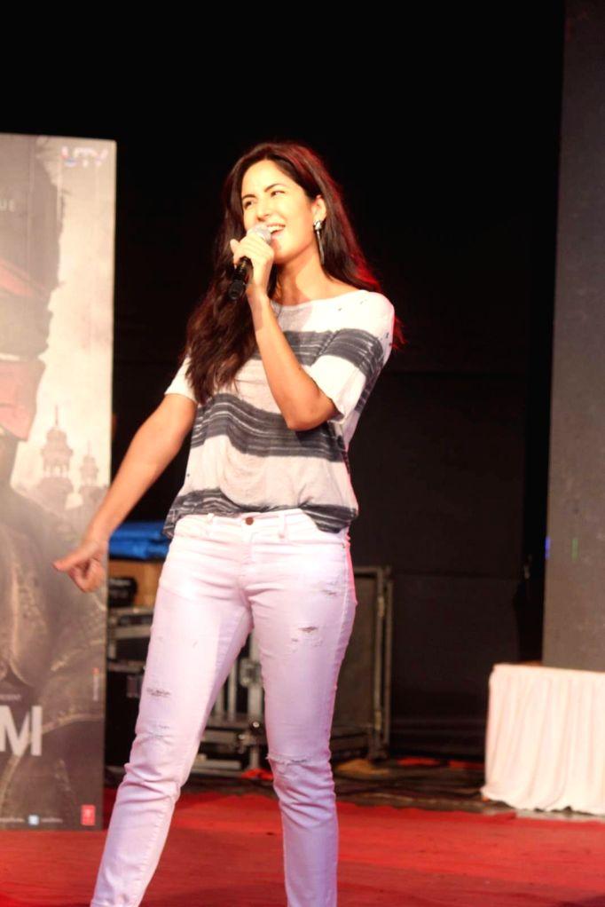 Actress Katrina Kaif during the promotion of film Phantom in Mumbai on August 15, 2015. - Katrina Kaif