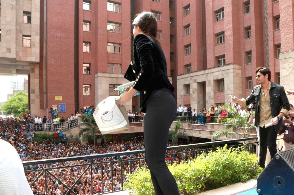 "Actress Katrina Kaif during the promotion of her upcoming flim ""Baar Baar Dekho"" at Amity University in Noida on Sept 8, 2016. - Katrina Kaif"