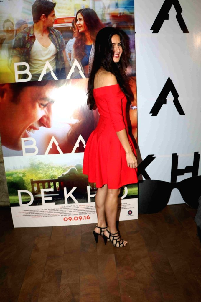 Actress Katrina Kaif during the trailer launch of film Baar Baar Dekho in Mumbai, on Aug 2, 2016. - Katrina Kaif
