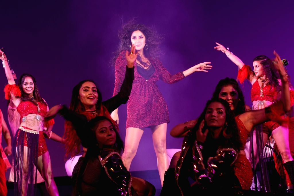 "Actress Katrina Kaif performs at the launch of ""Husn Parcham"", new song from upcoming film ""Zero"" in Mumbai on Dec 12, 2018. - Katrina Kaif"