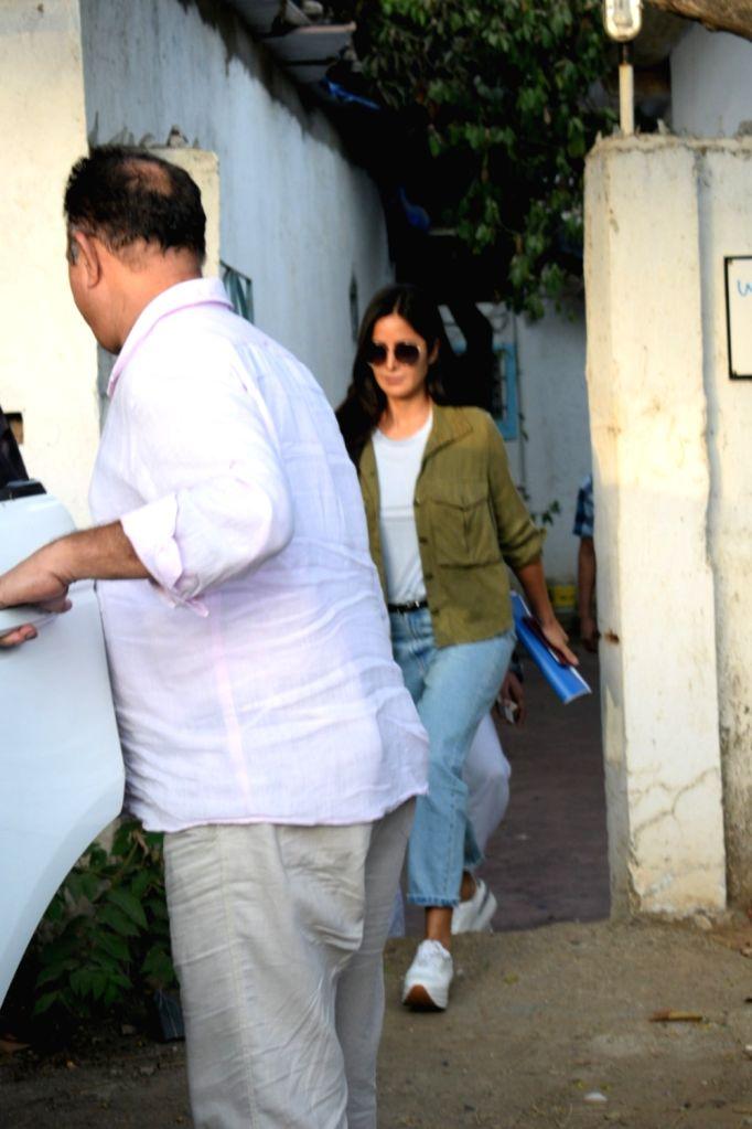 Actress Katrina Kaif seen at Mumbai's Versova on April 29, 2019. - Katrina Kaif