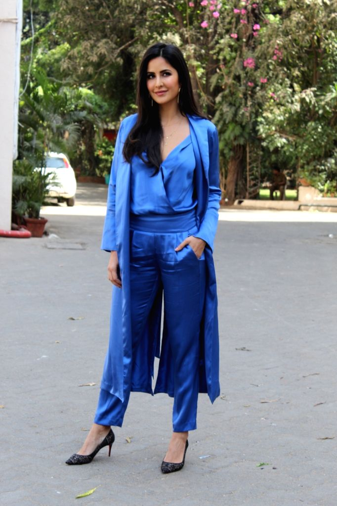 "Actress Katrina Kaif seen outside a film Studio during the promotion of her upcoming film ""Bharat"" in Mumbai's Bandra, on May 28, 2019. - Katrina Kaif"