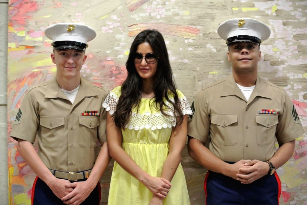 Actress Katrina Kaif takes travel tips from the officials at US Consulate in Mumbai before flying off to New York for IIFA. - Katrina Kaif