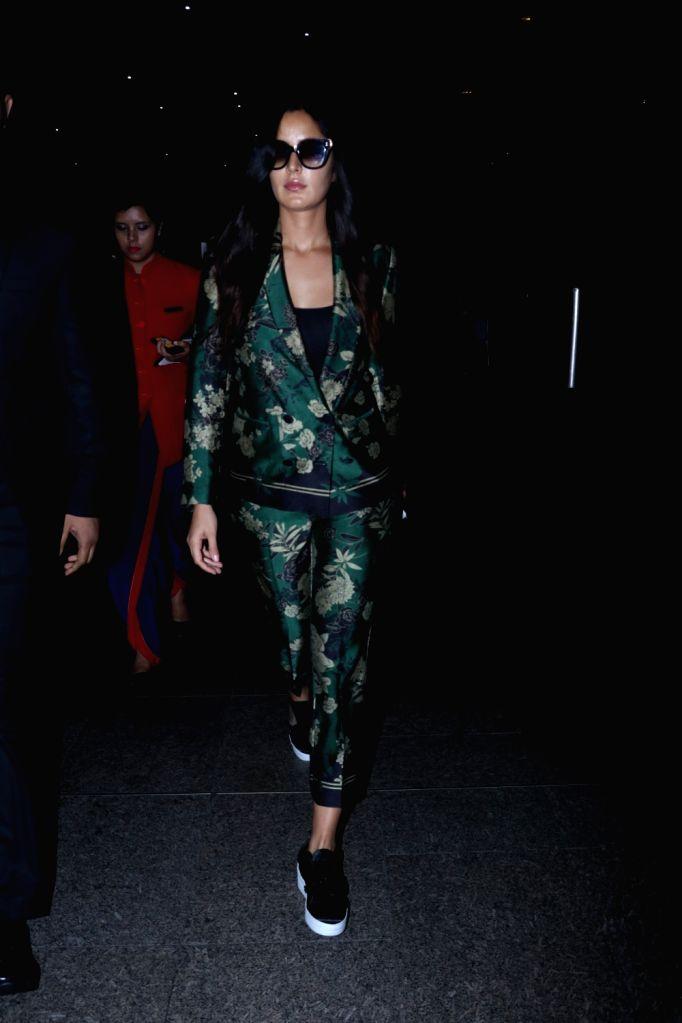 Actress Katrina Kaifseen at Chhatrapati Shivaji Maharaj International airport in Mumbai on Oct 13, 2017. - Katrina Kaifseen