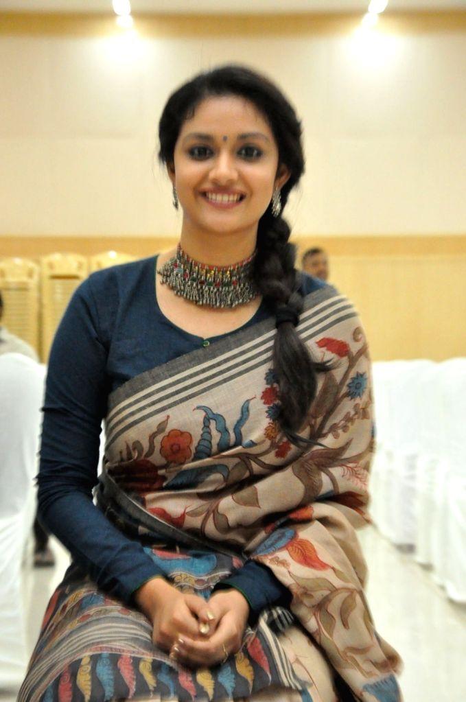 Actress Keerthy Suresh during a program. - Keerthy Suresh