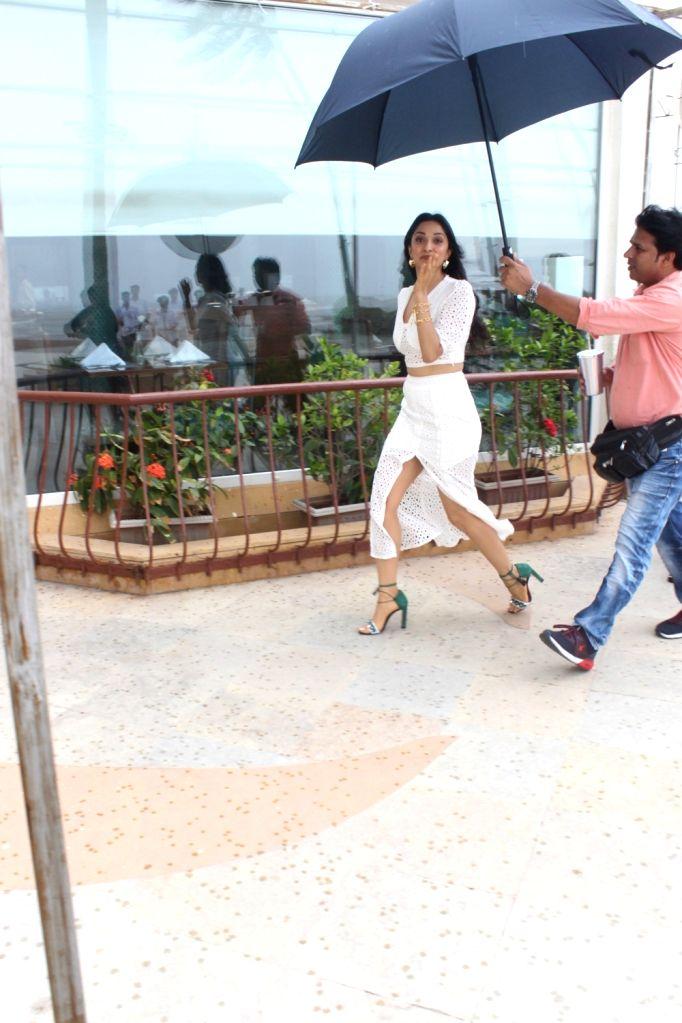 "Actress Kiara Advani arrives at the promotions of her upcoming film ""Kabir Singh"" at Juhu in Mumbai, on June 15, 2019. - Kiara Advani and Kabir Singh"