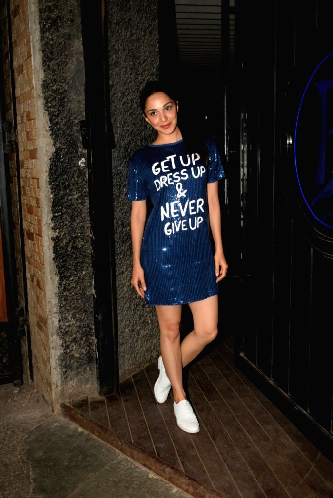 "Actress Kiara Advani at the wrap up party of her upcoming film ""Kabir Singh"" in Mumbai, on April 11, 2019. - Kiara Advani and Kabir Singh"