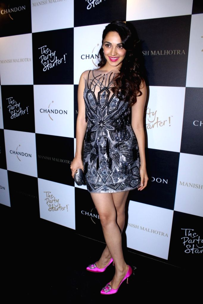 Actress Kiara Advani during the launch of Manish Malhotra X Chandon Champagne bottles Limited Edition End Of Year 2017 in Mumbai on Oct 9, 2017. - Kiara Advani