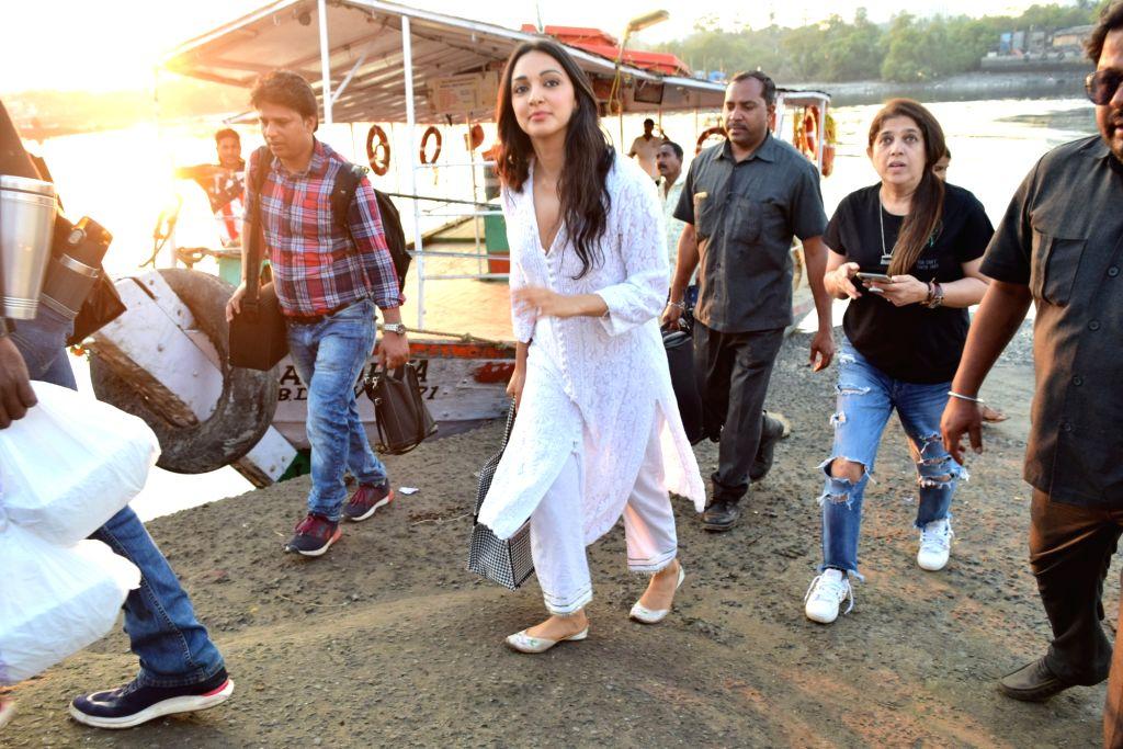 Actress Kiara Advani seen at Versova Jetty, in Mumbai on Jan 27, 2020. - Kiara Advani