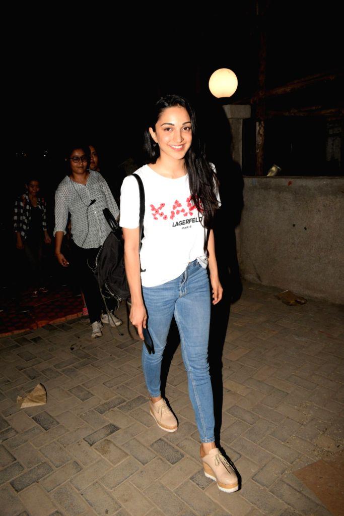 Actress Kiara Advani seen in Mumbai's Versova, on April 11, 2019. - Kiara Advani