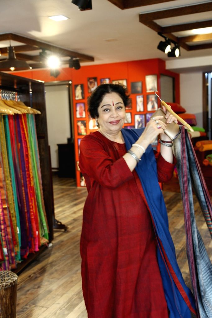 Actress Kirron Kher during the inauguration of a new section of Gaurang Shah's store in New Delhi, on March 16, 2017. - Kirron Kher and Gaurang Shah