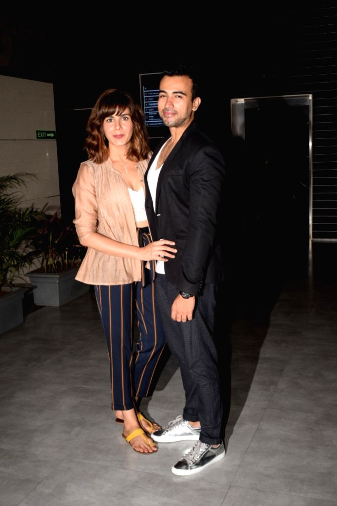 "Actress Kirti Kulhari along with her husband Sahil Sehgal at the special screening of her upcoming film ""Blackmail"" in Mumbai on April 4, 2018. - Kirti Kulhari"
