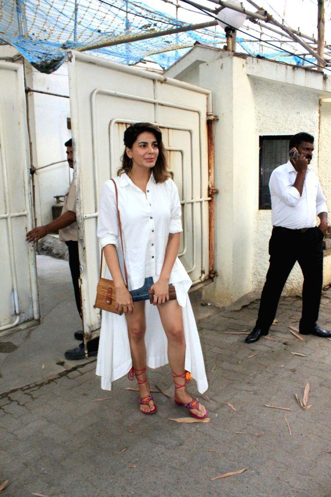 "Actress Kirti Kulhari at the special screening of her upcoming film ""Blackmail"" in Mumbai on April 3, 2018. - Kirti Kulhari"