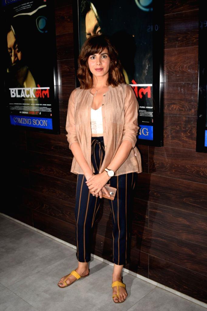 "Actress Kirti Kulhari at the special screening of her upcoming film ""Blackmail"" in Mumbai on April 4, 2018. - Kirti Kulhari"