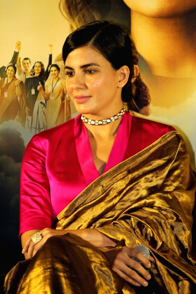 "Actress Kirti Kulhari at the trailer launch of her upcoming film ""Mission Mangal"" in Mumbai, on July 18, 2019. - Kirti Kulhari"
