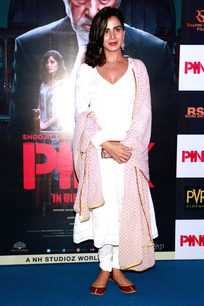 "Actress Kirti Kulhari during a press conference to promote their film ""Pink"" in New Delhi on Sept 16, 2016. - Kirti Kulhari"