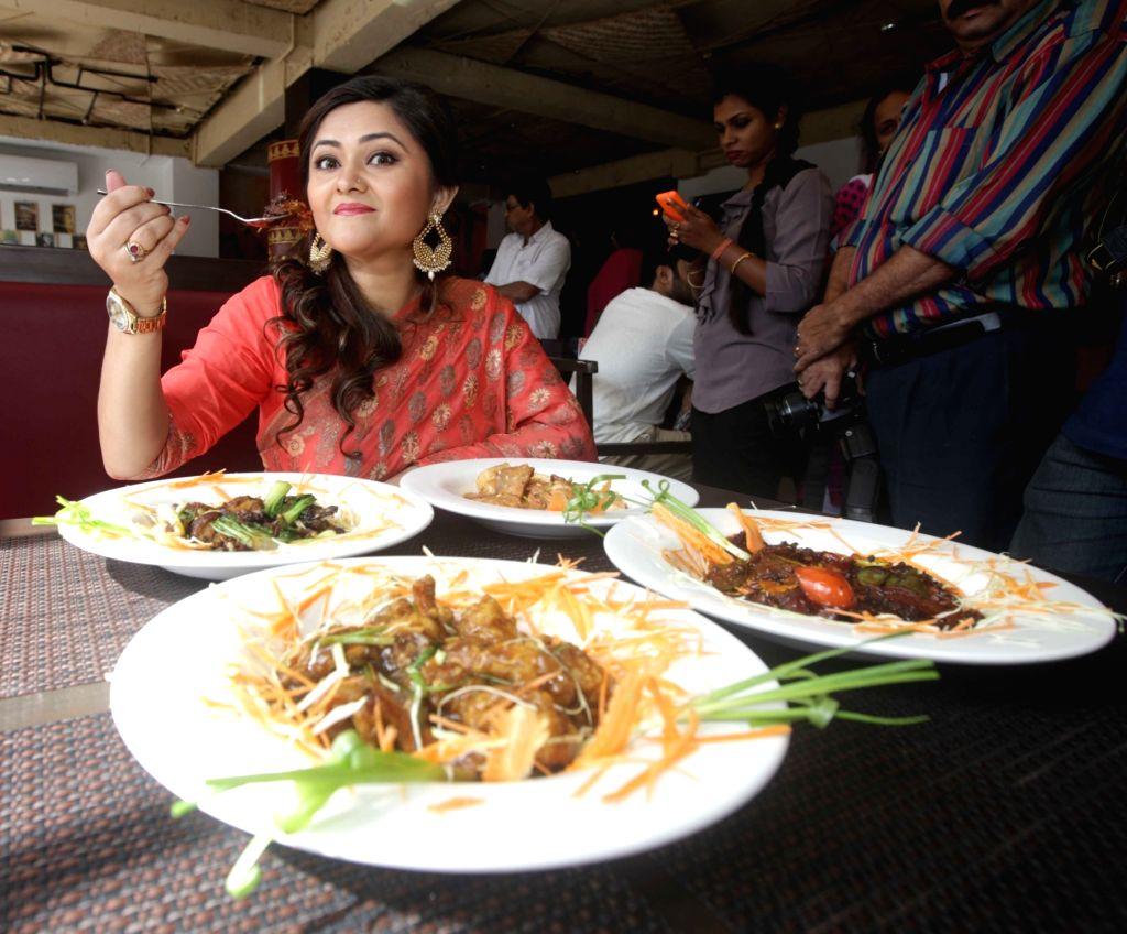Actress Koneenica Banerjee at a newly opened restaurant in Kolkata on June 30, 2016. - Koneenica Banerjee