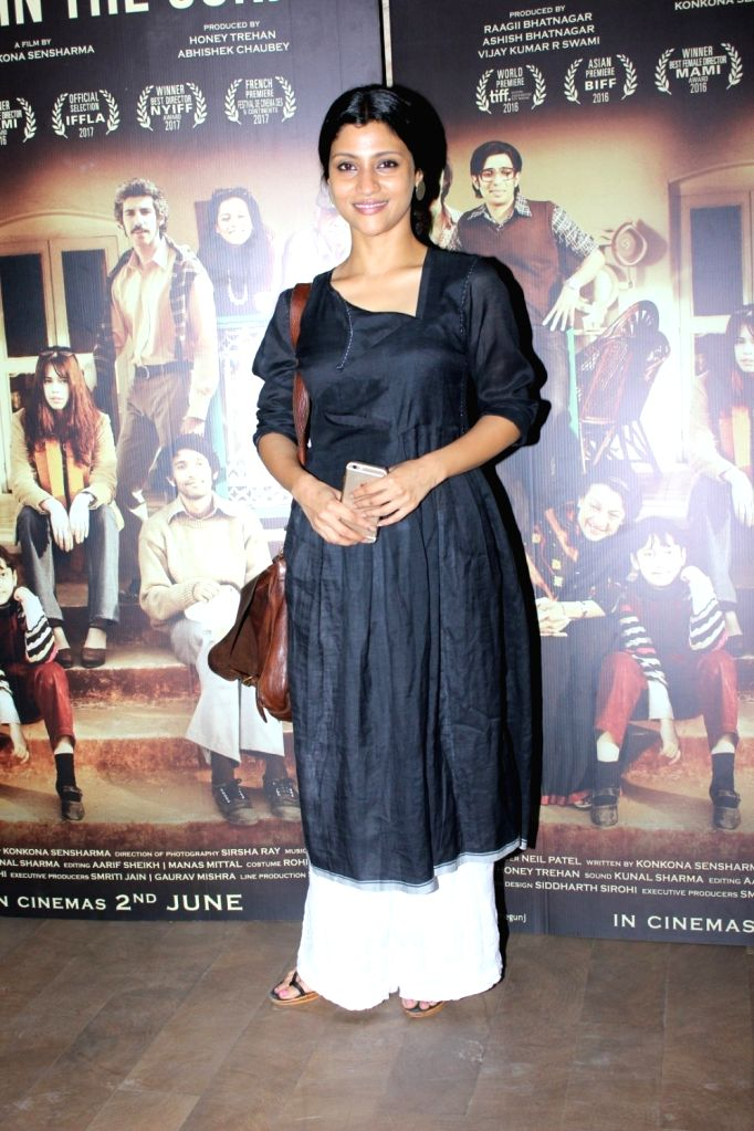 Actress Konkana Sen Sharma during the screening of film A Death in The Gunj in Mumbai on May 29, 2017. - Konkana Sen Sharma