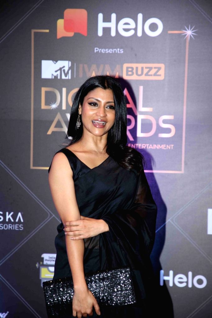 Actress Konkona Sen at the Red Carpet of MTV - IWMBuzz Digital Awards 2019 in Mumbai on Nov 13, 2019. - Konkona Sen