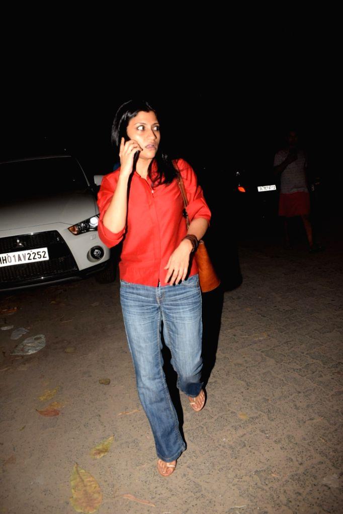 "Actress Konkona Sen Sharma arrives at the screening of the film ""Bhavesh Joshi Superhero"" in Mumbai on May 31, 2018. - Konkona Sen Sharma and Bhavesh Joshi Superhero"