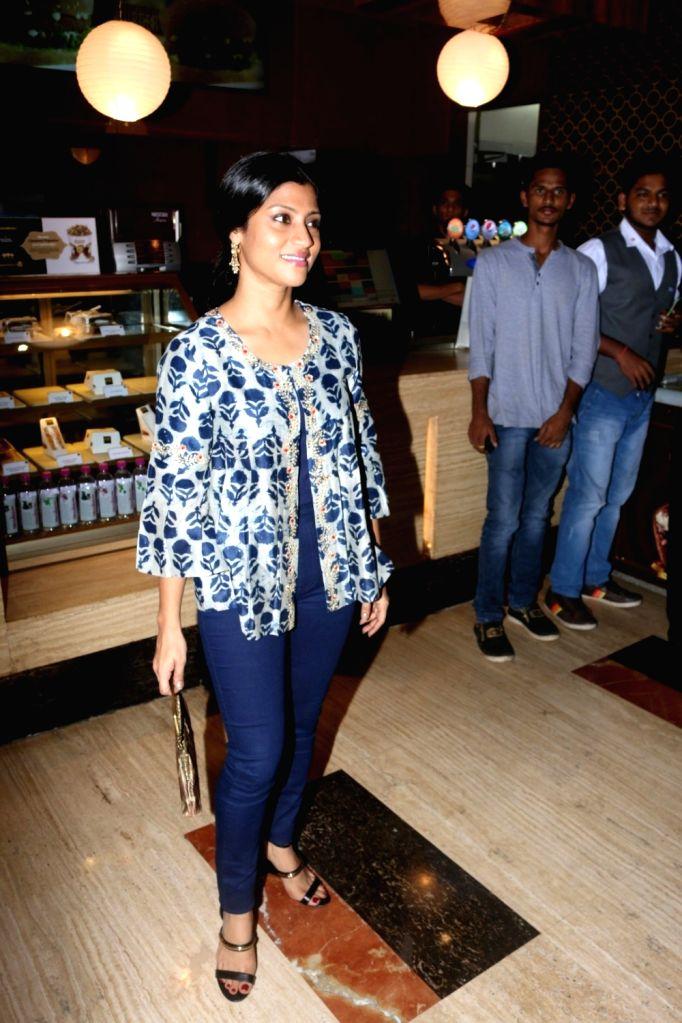 Actress Konkona Sen Sharma during the special screening of film Lipstick Under My Burkha at Jio MAMI Mumbai Film Festival in Mumbai on Oct 26, 2016. - Konkona Sen Sharma