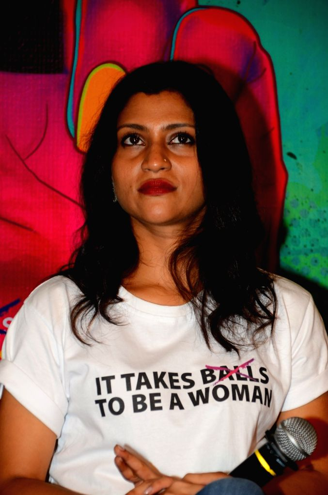 Actress Konkona Sensharma during the trailer launch of film Lipstick Under My Burkha, in Mumbai on June 27, 2017. - Konkona Sensharma