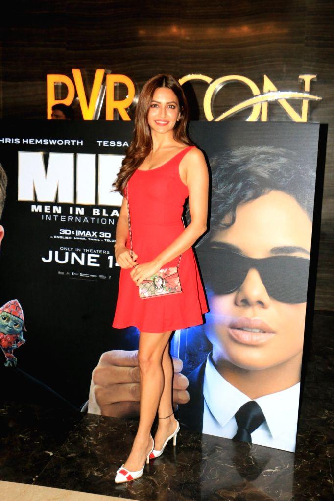 """Actress Kriti Kharbanda at the screening of upcoming film """"Men in Black: International"""", in Mumbai, on June 13, 2019. (Photo: IANS - Kriti Kharbanda"""