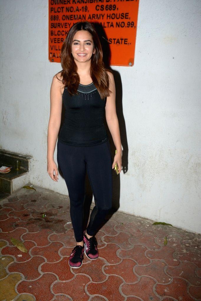 Actress Kriti Kharbanda seen at Andheri in Mumbai on Feb 7, 2018. - Kriti Kharbanda