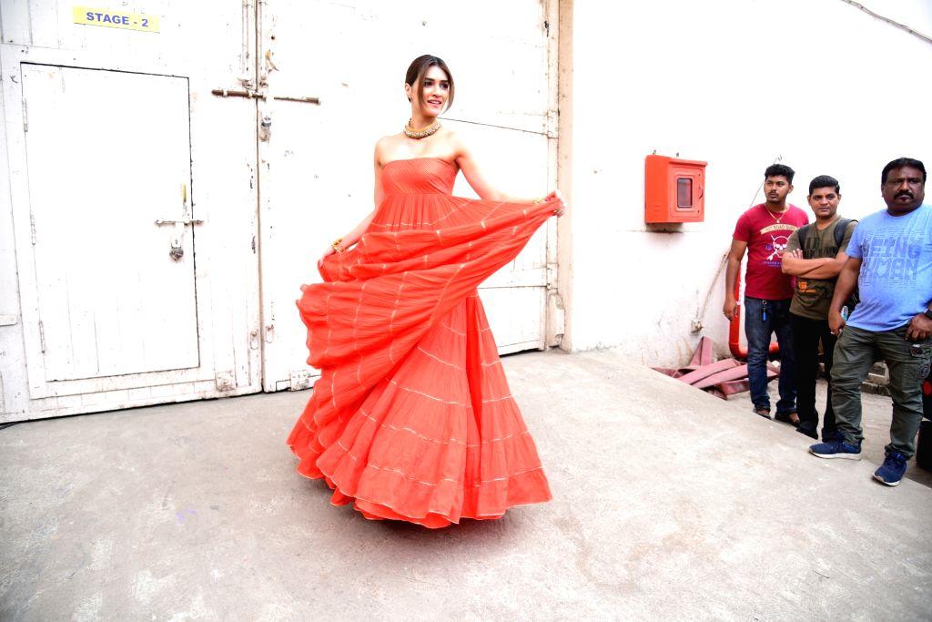 "Actress Kriti Sanon at the promotions of upcoming film ""Panipat"" in Mumbai on Dec 3, 2019. - Kriti Sanon"