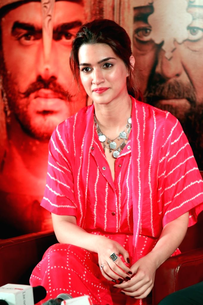 """Actress Kriti Sanon during a press conference organised to promote upcoming film """"Panipat"""" in New Delhi on Nov 29, 2019. - Kriti Sanon"""