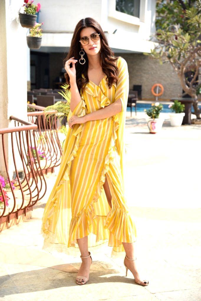 "Actress Kriti Sanon during a programme organsied to promote her upcoming film ""Luka Chuppi"" in Mumbai on Feb 20, 2019. - Kriti Sanon"