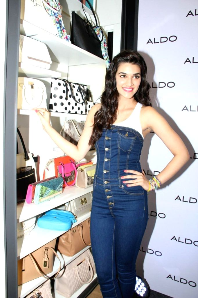 Actress Kriti Sanon during the Aldo Spring Summer 2015 Collection launch in Mumbai on March 10, 2015.