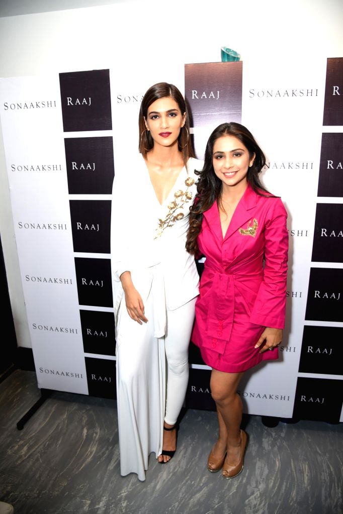 "Actress Kriti Sanon during the preview of designer Sonaakshi Raaj fresh off the runway collection ""SKIN"" in New Delhi, on Sept. 16, 2017. - Kriti Sanon"