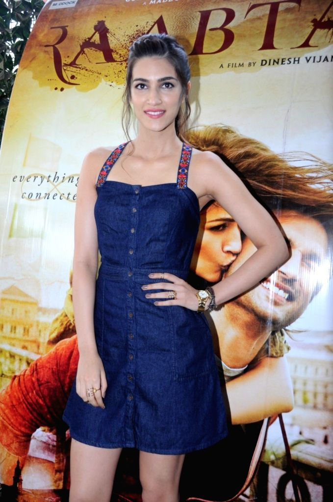 Actress Kriti Sanon during the promotion of film Raabta in Mumbai, on May 30, 2017. - Kriti Sanon