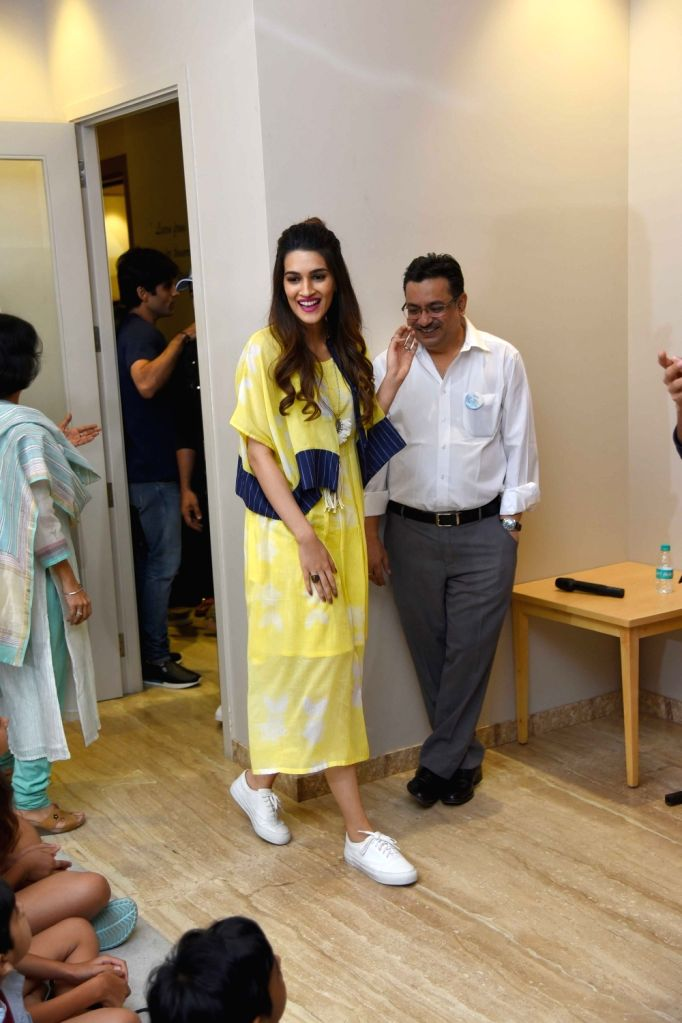 "Actress Kriti Sanon during the promotion of her upcoming film ""Bareilly Ki Barfi"" in New Delhi on Aug 5, 2017. - Kriti Sanon"