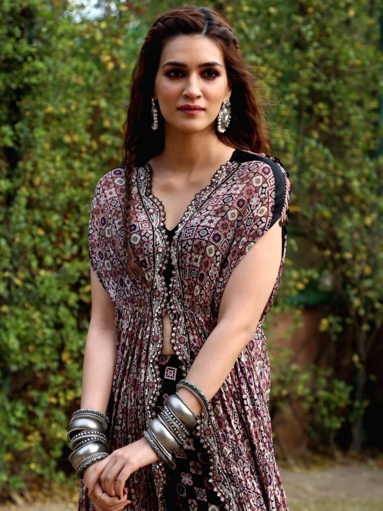 "Actress Kriti Sanon during the promotion of her upcoming film ""Panipat"" in New Delhi on Nov 28, 2019. - Kriti Sanon"