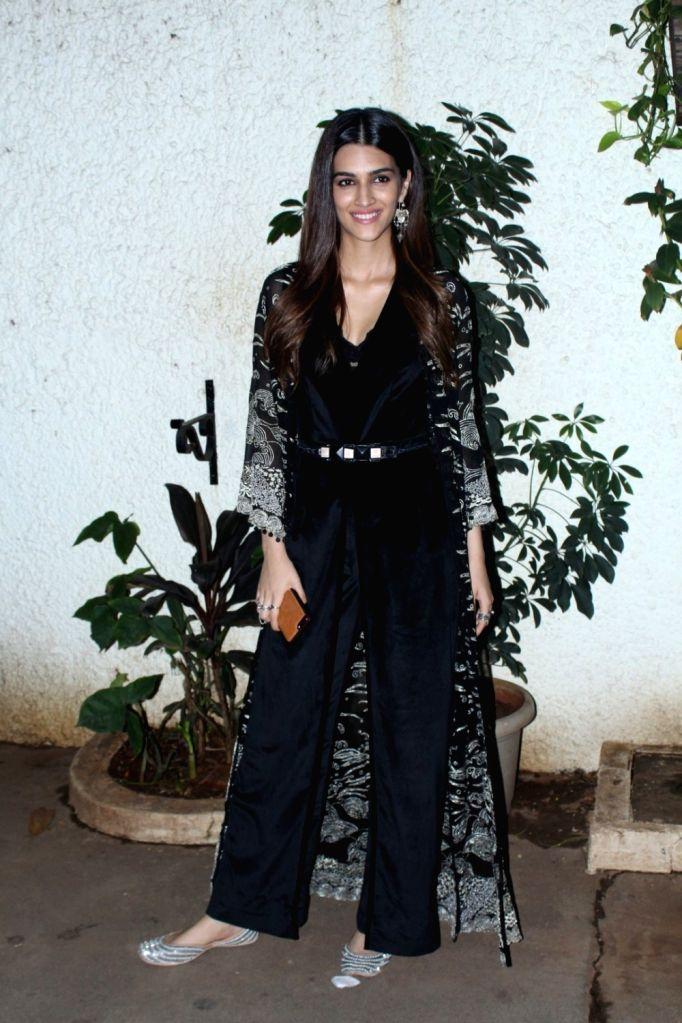 "Actress Kriti Sanon during the special screening of her upcoming film ""Bareilly Ki Barfi"" in Mumbai on Aug 16, 2017. - Kriti Sanon"