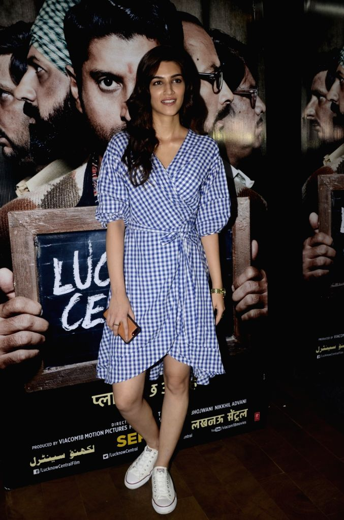 """Actress Kriti Sanon during the special screening of upcoming film """"Lucknow Central"""" in Mumbai on Sept 10, 2017 - Kriti Sanon"""