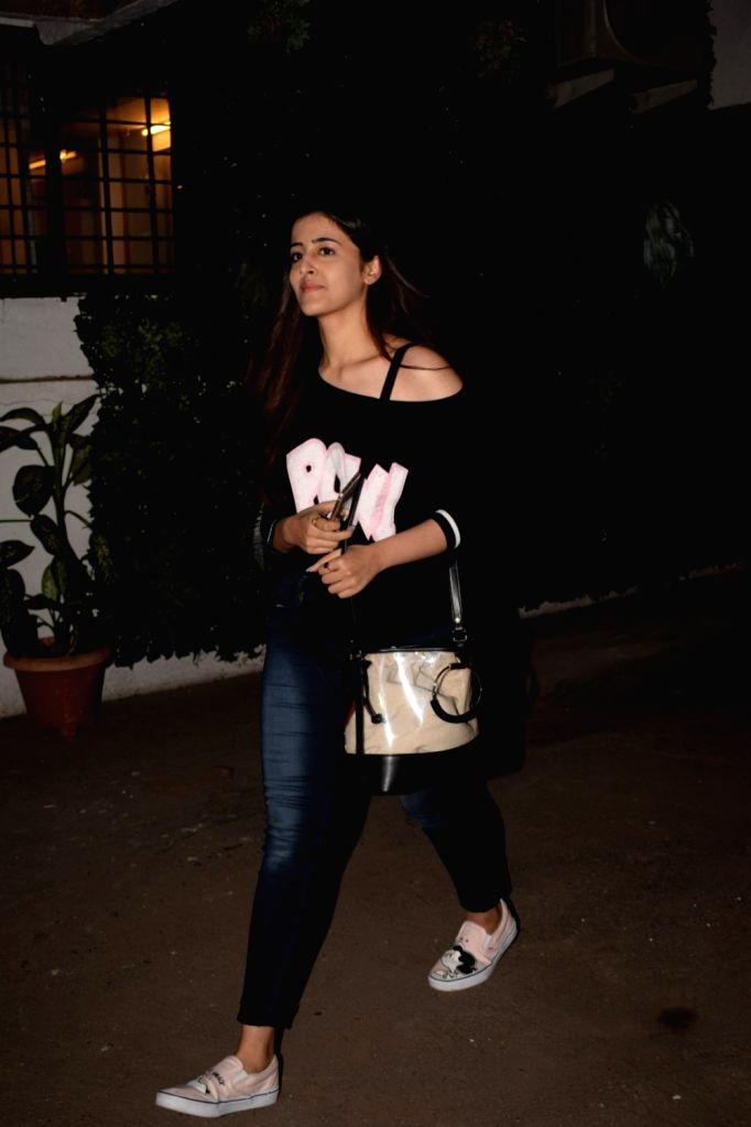 Actress Kriti Sanon's sister Nupur Sanon seen at Cromekay in Mumbai on Jan 31, 2018. - Kriti Sano