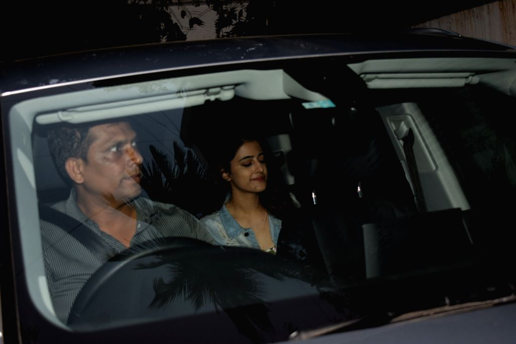 Actress Kriti Sanon's sister Nupur Sanon seen at khar in Mumbai on Feb 12, 2018. - Kriti Sano