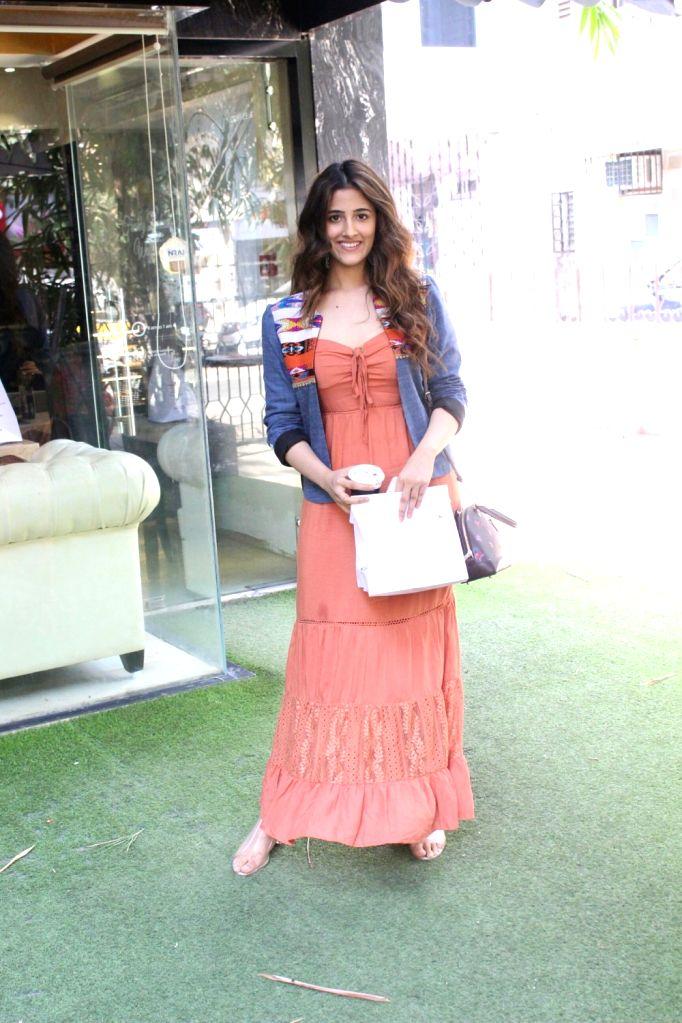 Actress Kriti Sanon's sister Nupur Sanon seen at Mumbai's Bandra on May 22, 2018. - Kriti Sano