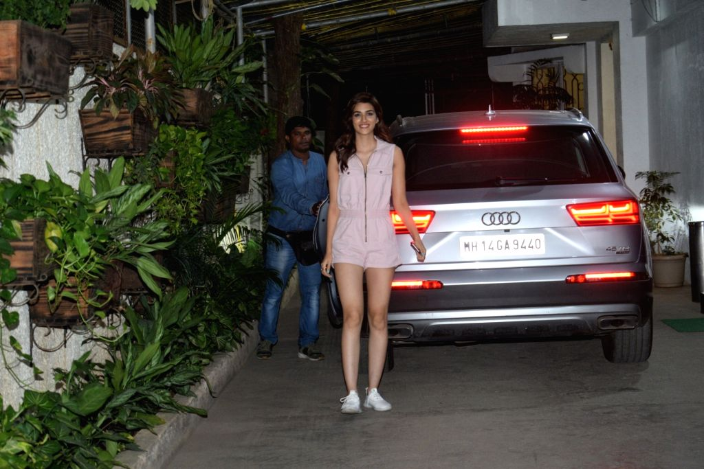 Actress Kriti Sanon seen at a sound studio in Mumbai on June 3, 2019. - Kriti Sanon