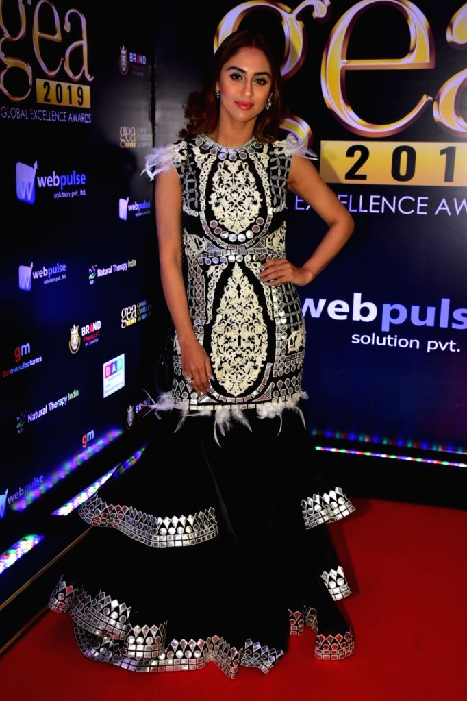 """Actress Krystle D'Souza at """"Global Excellence Awards 2019"""" in Mumbai on Oct 12, 2019. - Krystle D"""