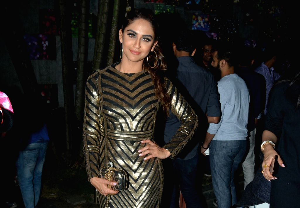 Actress Krystle D'Souza celebrates her 29th birthday in Mumbai on March 1, 2019. - Krystle D
