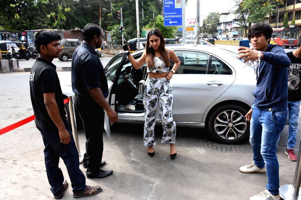 Actress Krystle D'souza seen at Bandra, in Mumbai, on June 2, 2019. - Krystle