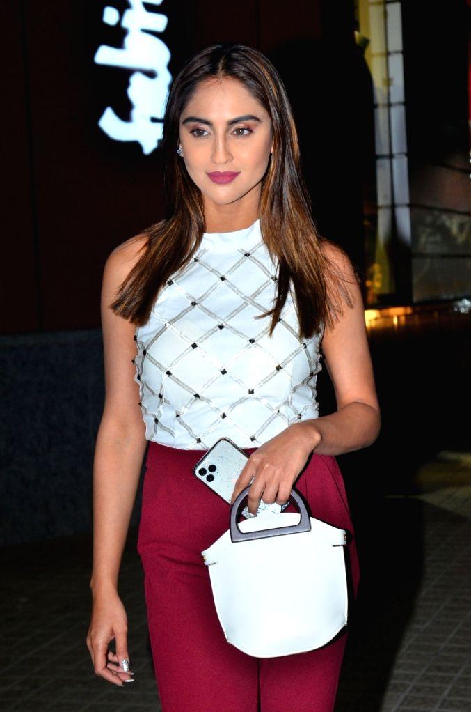 Actress Krystle D'Souza seen at Juhu, in Mumbai on Jan 8, 2020. - Krystle D