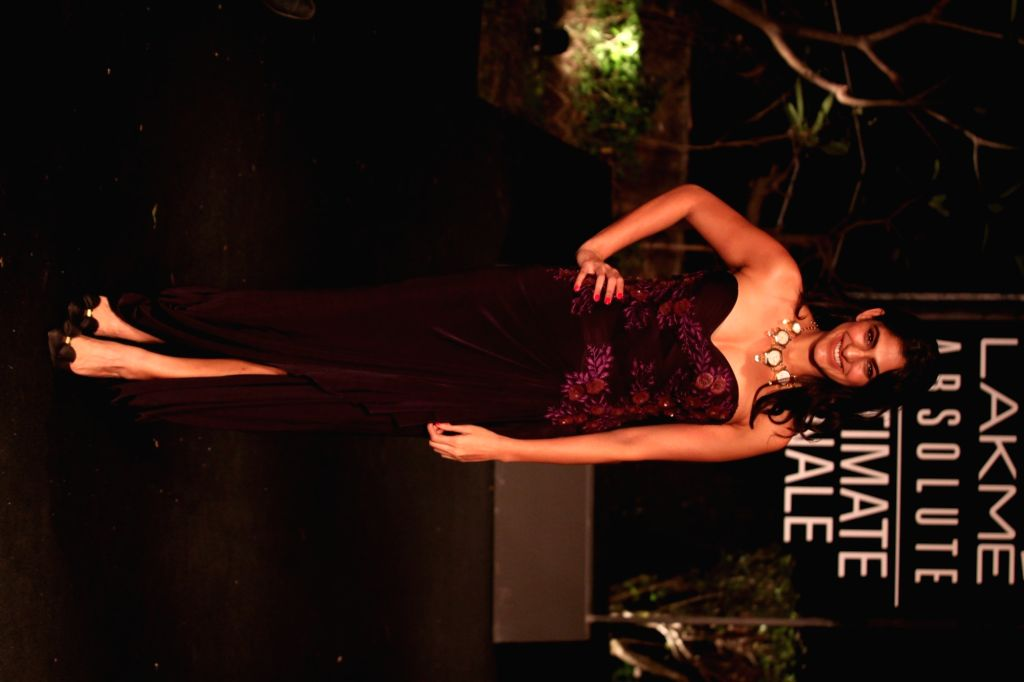 Actress Kubbra Sait at Lakme Fashion Week (LFW) Summer/Resort 2019 in Mumbai, on Feb 3, 2019. - Kubbra Sait