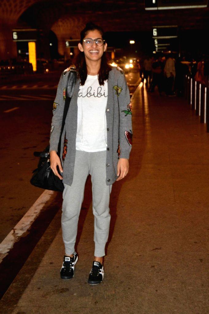 Actress Kubra sait seen at Chhatrapati Shivaji International Airport in Mumbai on July 11, 2018. - Kubra